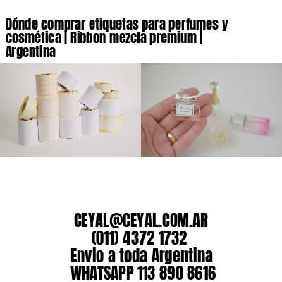 Dónde comprar etiquetas para perfumes y cosmética | Ribbon mezcla premium | Argentina
