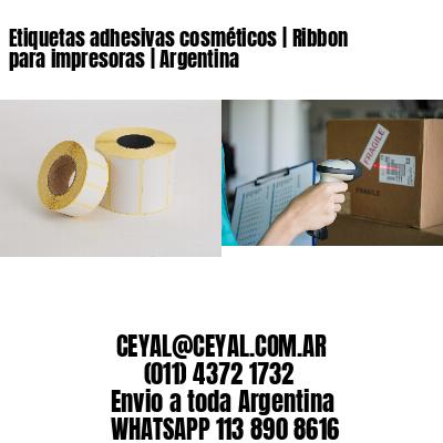Etiquetas adhesivas cosméticos | Ribbon para impresoras | Argentina