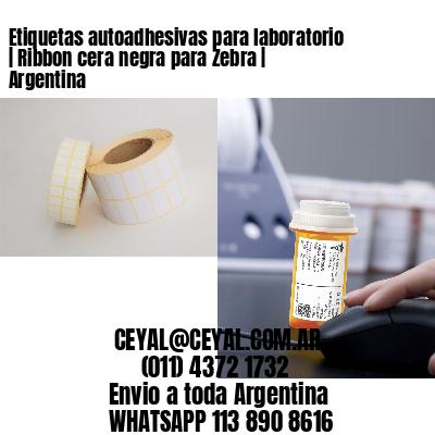 Etiquetas autoadhesivas para laboratorio   Ribbon cera negra para Zebra   Argentina