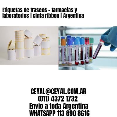 Etiquetas de frascos - farmacias y laboratorios | cinta ribbon | Argentina