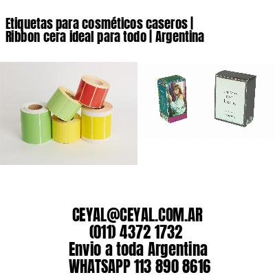Etiquetas para cosméticos caseros   Ribbon cera ideal para todo   Argentina
