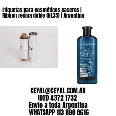 Etiquetas para cosméticos caseros   Ribbon resina doble (HL35)   Argentina
