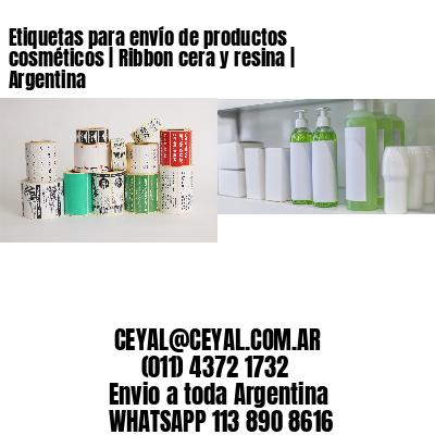 Etiquetas para envío de productos cosméticos   Ribbon cera y resina   Argentina