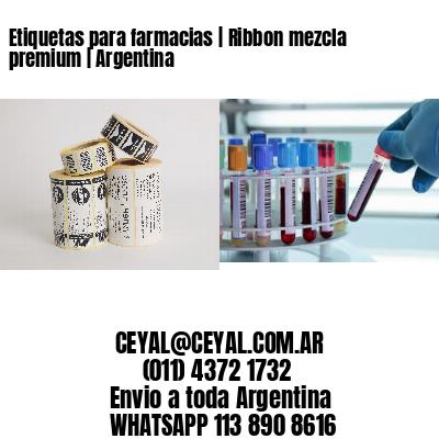 Etiquetas para farmacias | Ribbon mezcla premium | Argentina