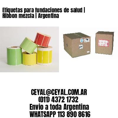 Etiquetas para fundaciones de salud | Ribbon mezcla | Argentina