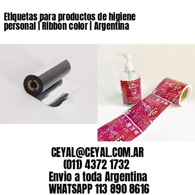 Etiquetas para productos de higiene personal   Ribbon color   Argentina