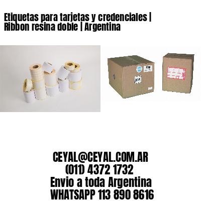 Etiquetas para tarjetas y credenciales | Ribbon resina doble | Argentina
