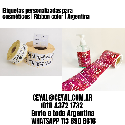 Etiquetas personalizadas para cosméticos | Ribbon color | Argentina
