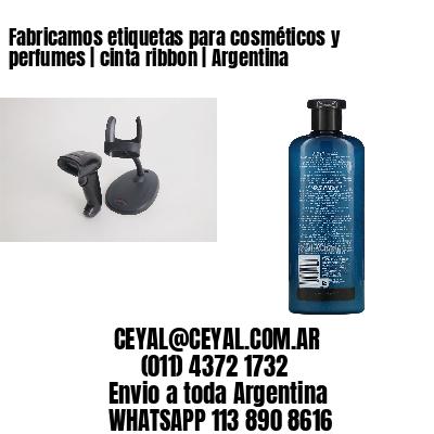 Fabricamos etiquetas para cosméticos y perfumes | cinta ribbon | Argentina