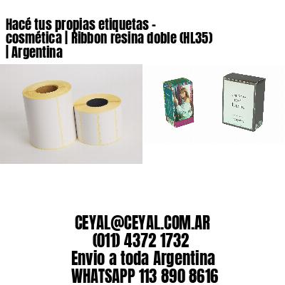 Hacé tus propias etiquetas – cosmética | Ribbon resina doble (HL35) | Argentina