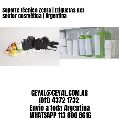 Soporte técnico Zebra | Etiquetas del sector cosmética | Argentina